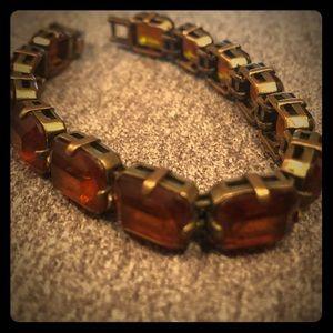 j crew tennis bracelet w/giant gemstones